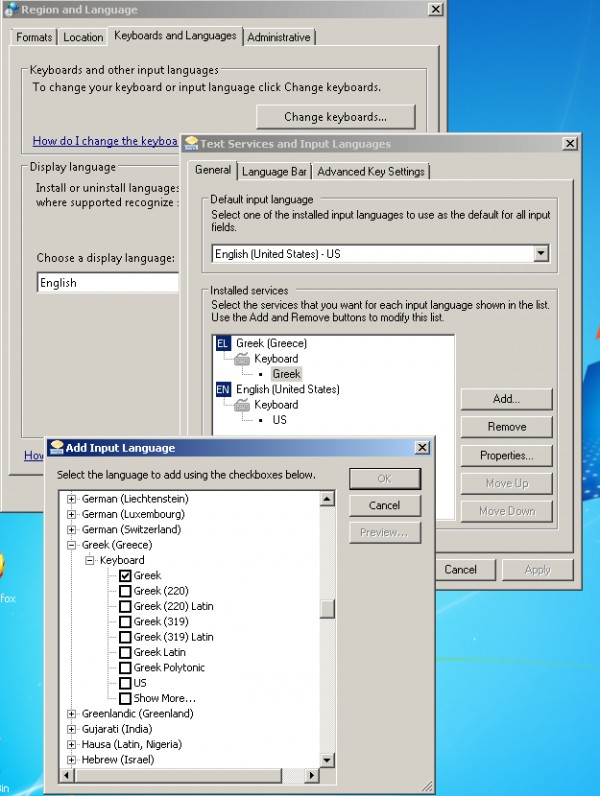 Add input language - Windows